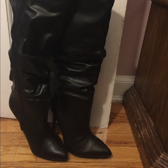 Black Knee High Wide Calf Boots | Poshmark